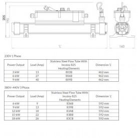Электронагреватель дя бассейна Elecro Flow Line Incoloy 803B