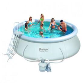 Надувной круглый бассейн Bestway 57242 (457х122) с песочным фильтром