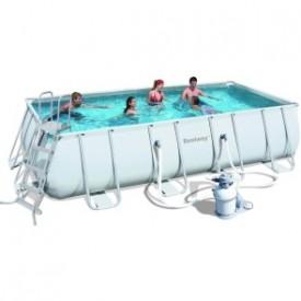 Каркасный прямоугольный бассейн Bestway 56466 (549х274х122) с песочным фильтром
