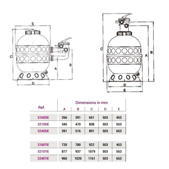 Фильтр Hayward PRO S160TIE (6м3/час D400)