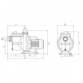 Насос AquaViva AQP-1.5S трехфазный